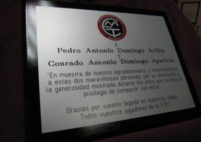 Placa para Agradecimiento en alumino