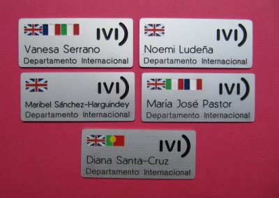 placas identificativas personales